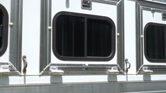 Horse trailer horsetrailer Stock Footage