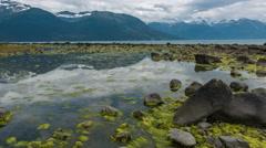 Flourescent Tide Pool Reflection Time Lapse Alaska 4K - stock footage