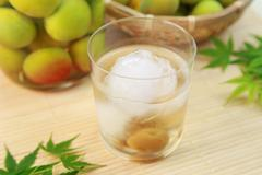 Plum liquor Stock Photos