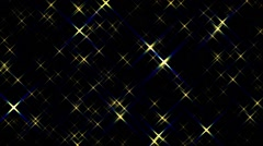 Fast Gold Sparkling Twinkling Stars Abstract Motion Background Loop Stock Footage