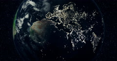 Bank Card / Instant Payment / Earth From Space Stock Footage
