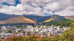 Beppu, Japan cityscape Stock Footage