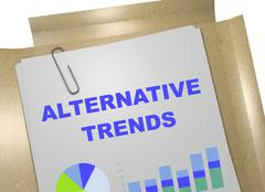 Alternative Trends concept - stock illustration