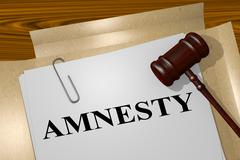 Amnesty legal concept Stock Illustration
