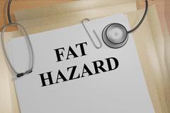 Fat Hazard medical concept Piirros