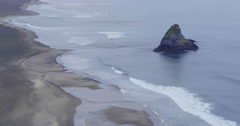 Aerial drone over karekare beach, Auckland, New Zealand Stock Footage