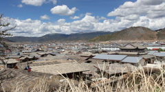 The old town of shangri-la alias zhongdian ,Yunnan China. (dolly left) Stock Footage