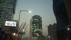 Skyscrapers in Gangnam Seoul, Korea Stock Footage