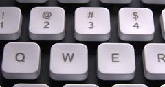 English PC Keyboard Keys Macro Stock Footage
