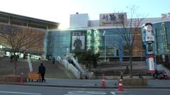 Seoul station in Seoul, Korea Stock Footage