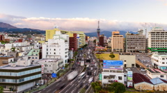 Beppu Japan Skyline Stock Footage
