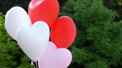 Balloons Soar in the Sky. Close up Shot. - stock footage