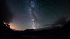 Milky Way and the starry sky from the Alps, time lapse Stock Footage