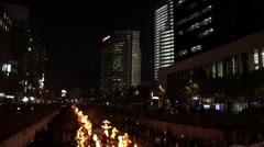 Seoul lantern festival night view in Seoul, Korea Stock Footage