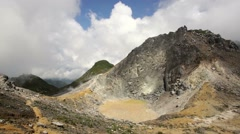 Sibayak volcano near Berastagi in northern Sumatra, Indonesia Stock Footage