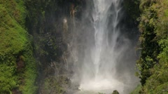 Sipisopiso waterfall in northern Sumatra, Indonesia Stock Footage