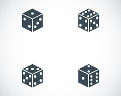 Vector black castle icons set Stock Illustration