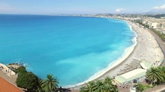 Nice beach, Cote d'Azur (French Riviera), France Stock Footage