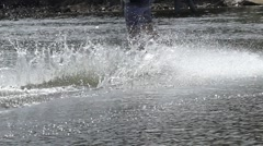 Boards For Wakeboarding Moves in Slow Motion and Let the Spray in Different - stock footage