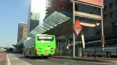 Public transportation in Yeouido Seoul, Korea Stock Footage