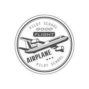 Good Flight Club Emblem Design - stock illustration