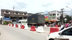Thai-Myanmar Friendship Bridge Special Economic Zone, Measot, Tak ,Thailand Stock Footage