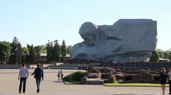 Monument to the defenders of the Brest fortress. Stock Footage