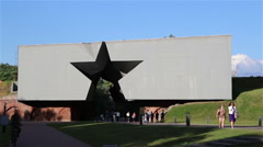 Main entrance in the Brest fortress. Stock Footage