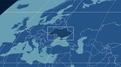 Ukraine - 3D tube zoom (Kavrayskiy VII projection). Solids Stock Footage