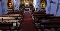 Frijiliana, Spain. Circa . Group of women praying in a church. Stock Footage