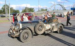 Brest, Belarus, 06 July 2016: The 6th Peking to Paris Motor Challenge 2016. - stock photo