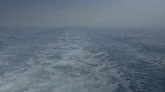 Motor Boat Wake Fading from Misty Horizon - 29,97FPS NTSC - stock footage