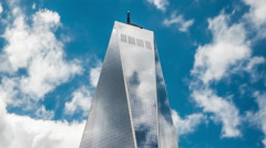 Timelapse View of the Freedom Tower in New York City, USA - Zoom Out Stock Footage