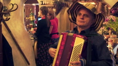 Playing accordion Stock Footage
