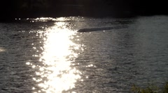 the Wakeboarder Rides on the Water in Slow Motion. - stock footage