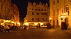 City center in the evening time Stock Footage