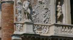 Vicenza - Zooming video of the Loggia del Capitanio - stock footage