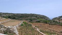 Zurrieq fields and countryside, Malta. Stock Footage