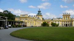 Beautiful yellow palace Stock Footage