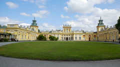 Gorgeous yellow palace on a sunny day Stock Footage