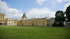 Wilanów residence on a summer day Stock Footage