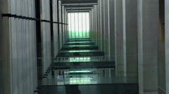 Many corridors on this floor of the museum Stock Footage