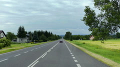 Three lanes on a coutry road Stock Footage