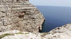 Wied iz-Zurrieq, Malta. Stock Footage