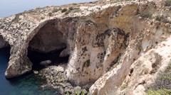 Blue Grotto in Zurrieq, Malta. Stock Footage