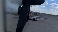 The plane will soon start moving Stock Footage