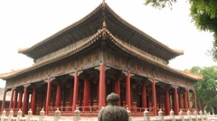 Exterior of the temple of Confucius in Beijing, China. Stock Footage