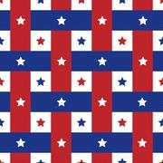 american seamles polka star pattern background - stock illustration