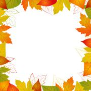 Fall vector leaf border illustration isolated from background Stock Illustration