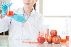 Biotechnology lab to develop genetic modification food - stock photo